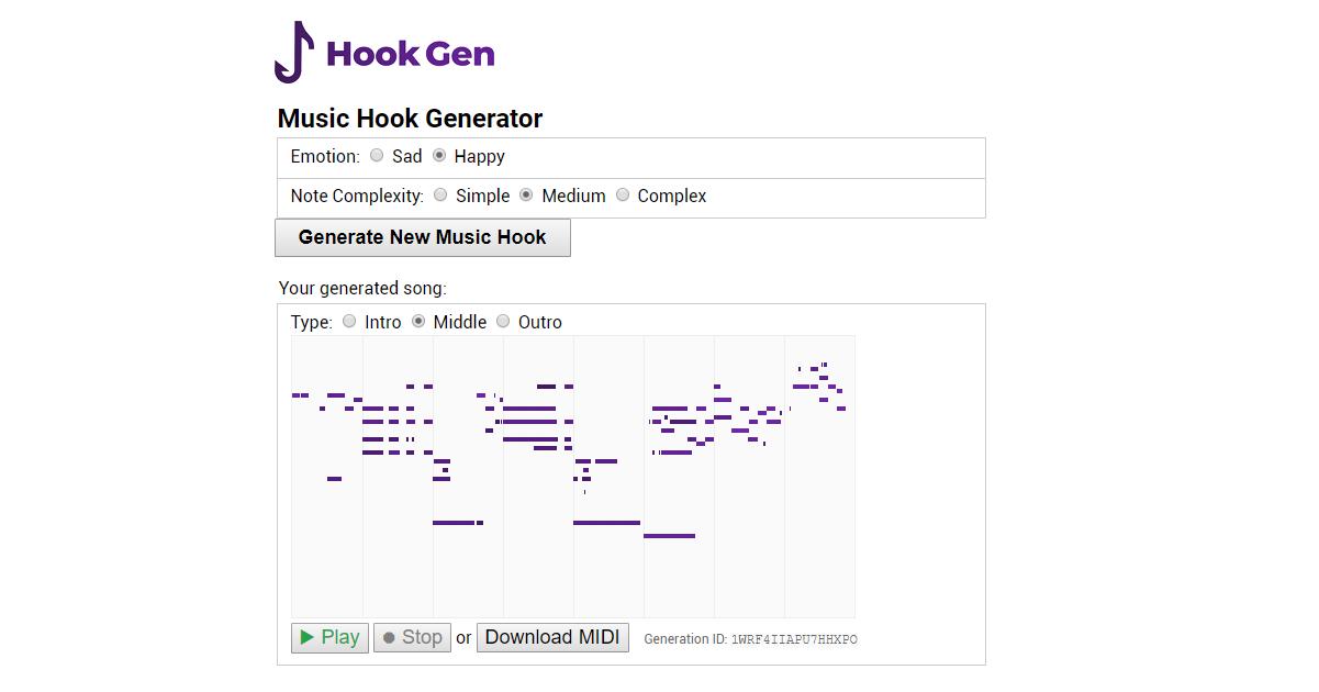 HookGen – Music Hook Generator